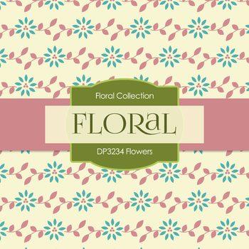 Digital Papers - Flowers (DP3234)