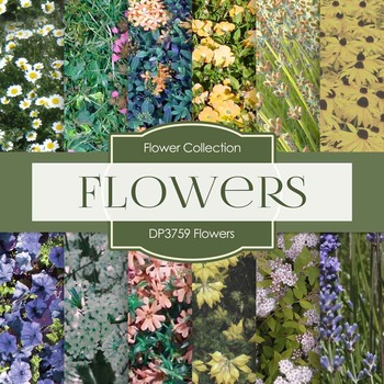 Digital Papers - Flowers (DP3759)