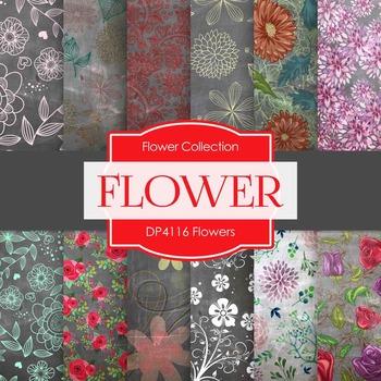 Digital Papers - Flowers (DP4116)