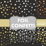 Digital Papers -  Foil Confetti Gold Silver Copper Platinum