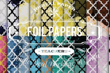 Digital Papers - Foil Patterns Bundle Deal
