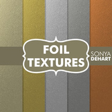 Digital Papers -  Foil Textures Gold Silver Copper Platinum