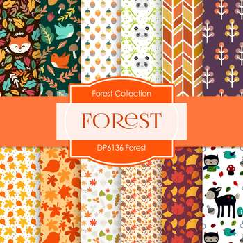 Digital Papers - Forest (DP6136)