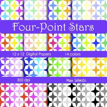 Digital Papers - Four-Point Stars