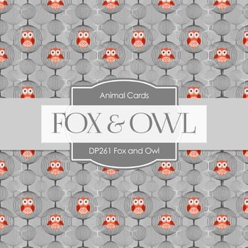Digital Papers - Fox And Owl (DP261)