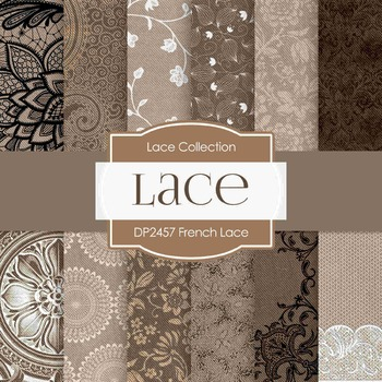 Digital Papers -  French Lace (DP2457)