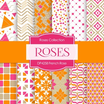 Digital Papers - French Rose (DP4258)