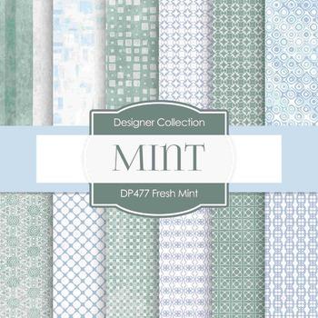 Digital Papers - Fresh Mint (DP477)