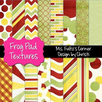 Digital Papers: Frog Pad Textures