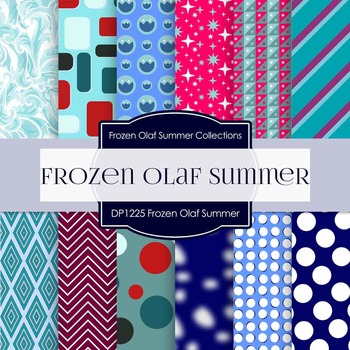 Digital Papers - Frozen Olaf Summer (DP1225)