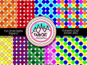 Digital Papers: Fun Circles