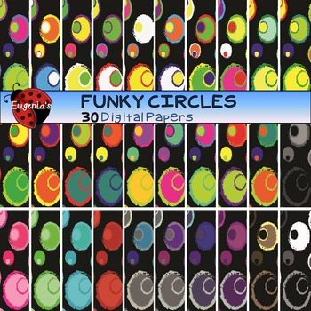Digital Papers - Funky Circles