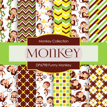 Digital Papers - Funny Monkey (DP6798)