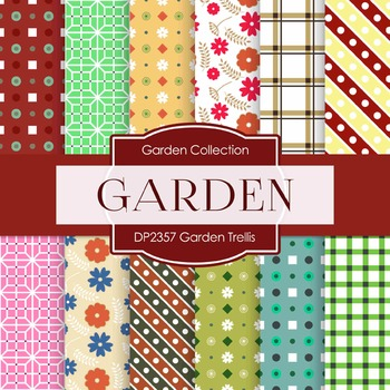 Digital Papers - Garden Trellis (DP2357)