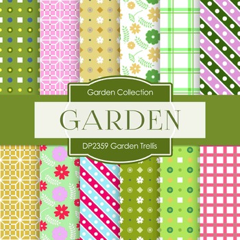 Digital Papers - Garden Trellis (DP2359)