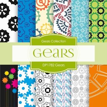 Digital Papers - Gears (DP1782)
