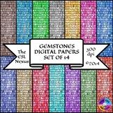 Gemstones Digital Papers
