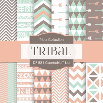 Digital Papers - Geometric Tribal (DP4881)