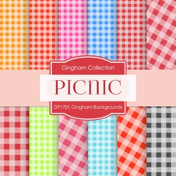 Digital Papers - Gingham Backgrounds (DP1701)