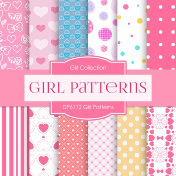Digital Papers - Girl Patterns (DP6112)