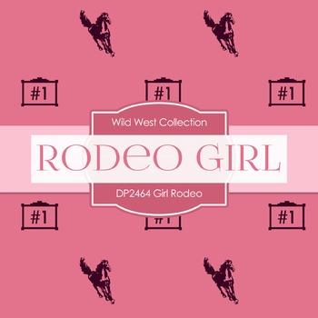 Digital Papers -  Girl Rodeo (DP2464)