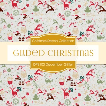 Digital Papers - Glided Christmas (DP6104)