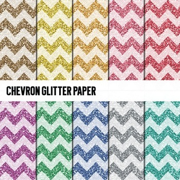 Digital Papers ~Glitter Chevron~ Glitter Paper {Ink n Little Things}