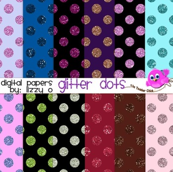 Digital Papers - Glitter Dots