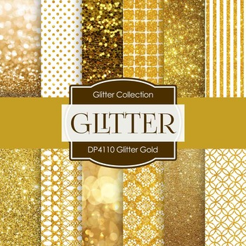 Digital Papers - Glitter Gold (DP4110)