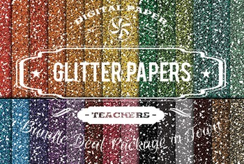 Digital Papers - Glitter Papers Patterns Bundle Deal