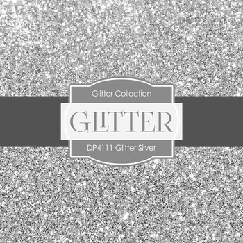 Digital Papers - Glitter Silver (DP4111)