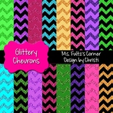 Digital Papers: Glittery Chevrons
