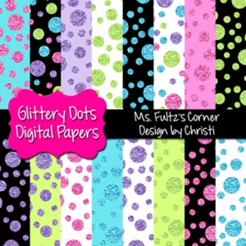Digital Papers: Glittery Dots