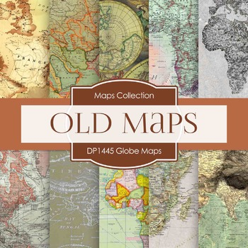 Digital Papers -  Globe Maps (DP1445)