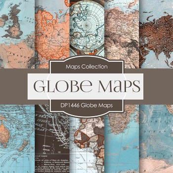 Digital Papers -  Globe Maps (DP1446)