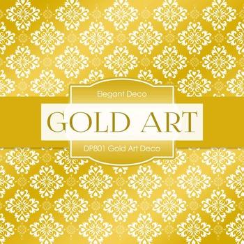 Digital Papers - Gold Art Deco (DP801)