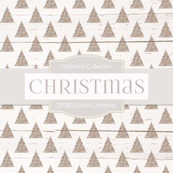 Digital Papers - Gold Christmas (DP3825)