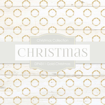 Digital Papers - Gold Christmas (DP4311)