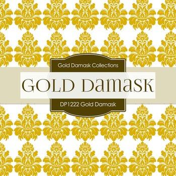 Digital Papers - Gold Damask (DP1222)