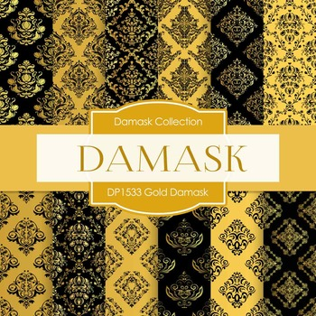 Digital Papers - Gold Damask (DP1533)