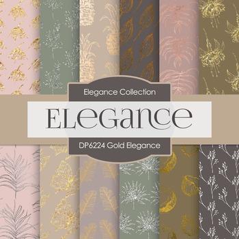 Digital Papers - Gold Elegance (DP6224)