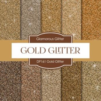 Digital Papers - Gold Glitter Paper (DP161)