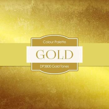 Digital Papers - Gold Tones (DP3800)