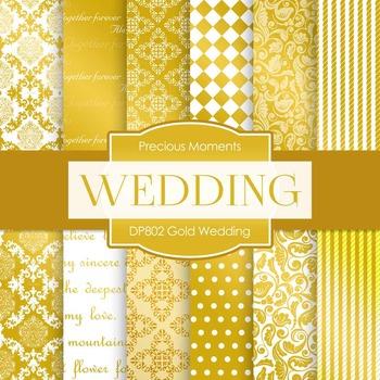 Digital Papers - Gold Wedding (DP802)
