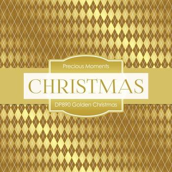 Digital Papers - Golden Christmas (DP890)