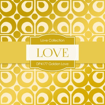 Digital Papers - Golden Love (DP4177)