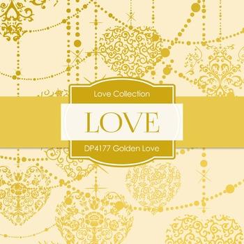 Digital Papers - Golden Love (DP4177)