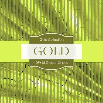 Digital Papers - Golden Stripes  (DP615)
