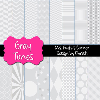 Digital Papers: Gray Tones
