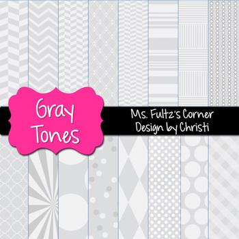 Digital Papers: Gray Tones